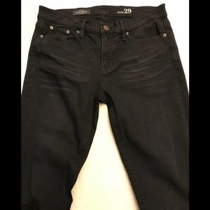 J Crew Black Denim Toothpick Jeans